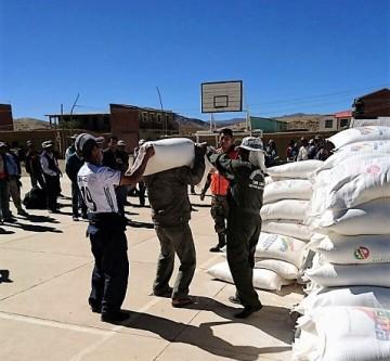 1.000 familias de 36 comunidades de  San Lucas reciben ayuda alimentaria