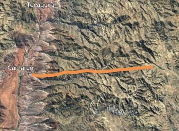 Alcaldía comienza la construcción del camino directo Villa Charcas - Camargo