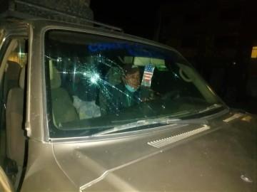 Atacan a vagoneta del Concejo Municipal de Culpina en plena carretera