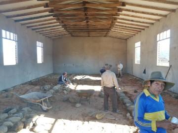 Católicos de El Palmar siguen con la construcción de su templo