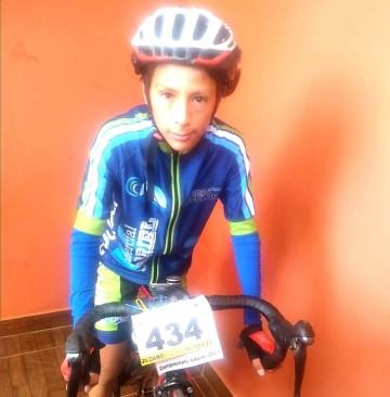 Chelito Moncada Carrizo, el niño ciclista de Culpina que aspira a ser profesional