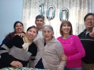Doña Lía, de Culpina, cumplió 100 años con la ilusión de volver a su tierra