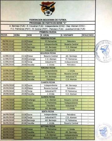 El club Alemán de Sucre jugará la Copa Simón Bolívar en Camargo
