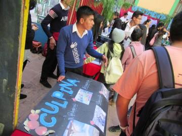 Estudiantes promocionan el potencial turístico de Culpina