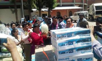 Internados escolares de los Cintis reciben equipamiento y alimentos