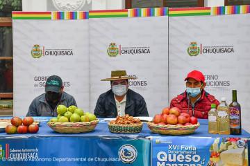 Más de 20 productores de queso y manzana de los Cintis participarán de la feria en Sucre