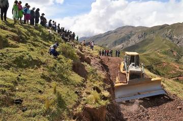 Primera fase del camino Pucapampa-Campamento será de 3 tres kilómetros
