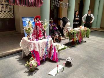 "Primero ""B"" de Turismo representa la festividad de San Lucas"