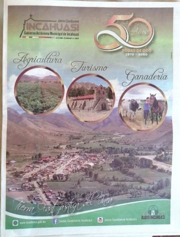 Publican separata del municipio de Incahuasi en el diario Correo del Sur