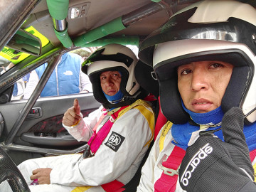 Richard Llanos de Camargo subió  al podio del circuito Oscar Crespo