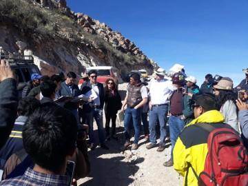 Sala Constitucional inspección explotación minera en Charpaxi