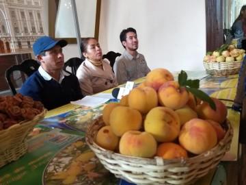 Sanluqueños promocionan la IV Feria del Durazno en Sucre