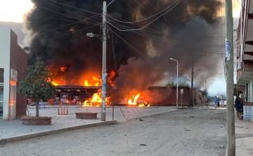 Se incendia el depósito del Sedcam en Camargo