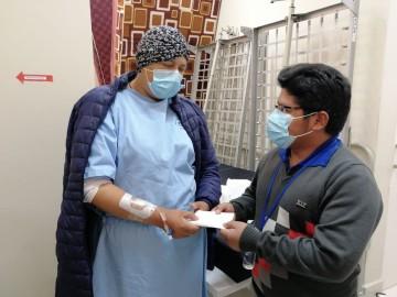 Senador Roberto Padilla se solidariza con Jhilda Ortega que padece cáncer