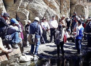 Sistema de riego de Achuma se construirá en algo más de un año