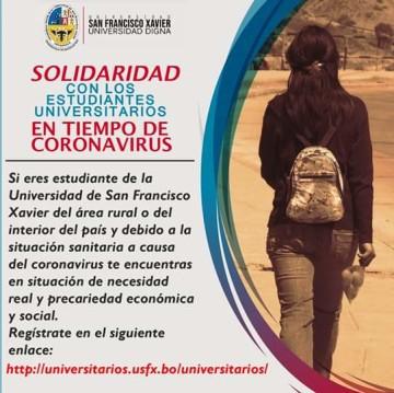 Universitarios de los Cintis tienen carencias para alimentarse en Sucre