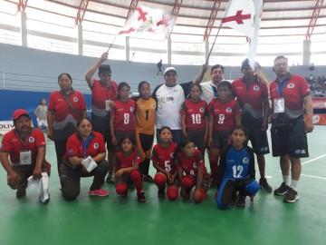 Villa Charcas logra primer triunfo en futsal niñas