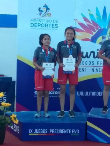 Zamora y Quintanilla de Camargo obtienen plata en tenis de mesa