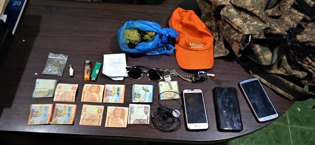 Aprehenden a dos jóvenes en posesión de marihuana en Camargo