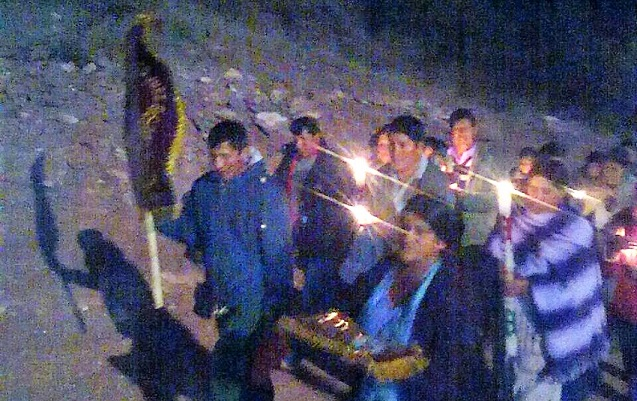 Bella Vista rescata la Procesión de Ceras en festividad del Señor Justo Juez
