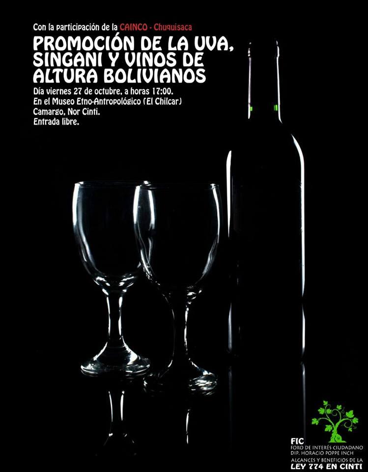 Cainco Chuquisaca se acerca a los productores de vinos y singanis