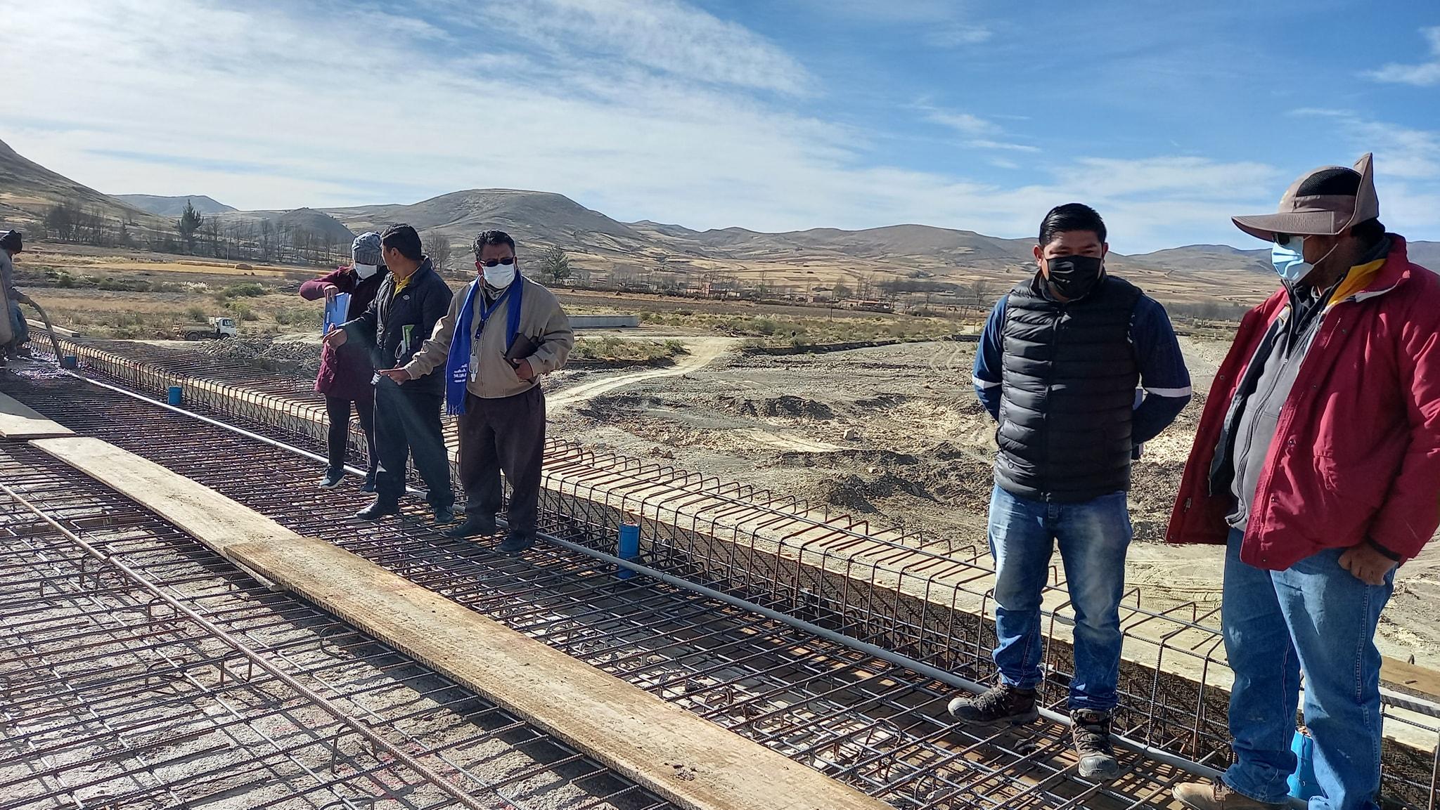 Construcción del puente de Palca Pata tiene un avance del 80%