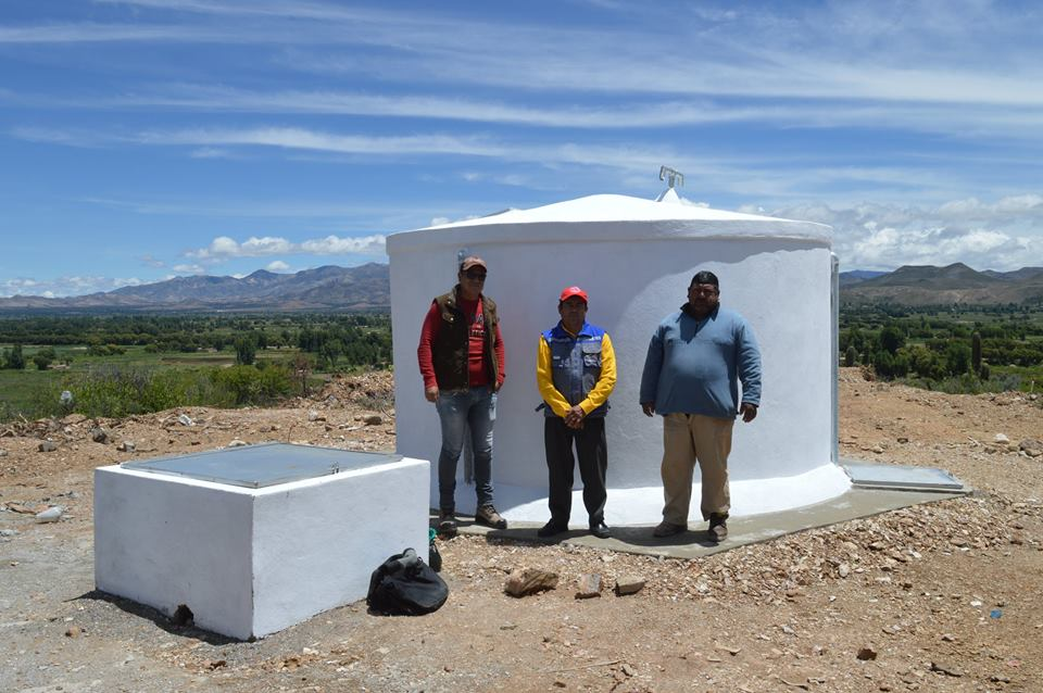 Culpina: Construyen cuatro tanques para almacenar agua potable