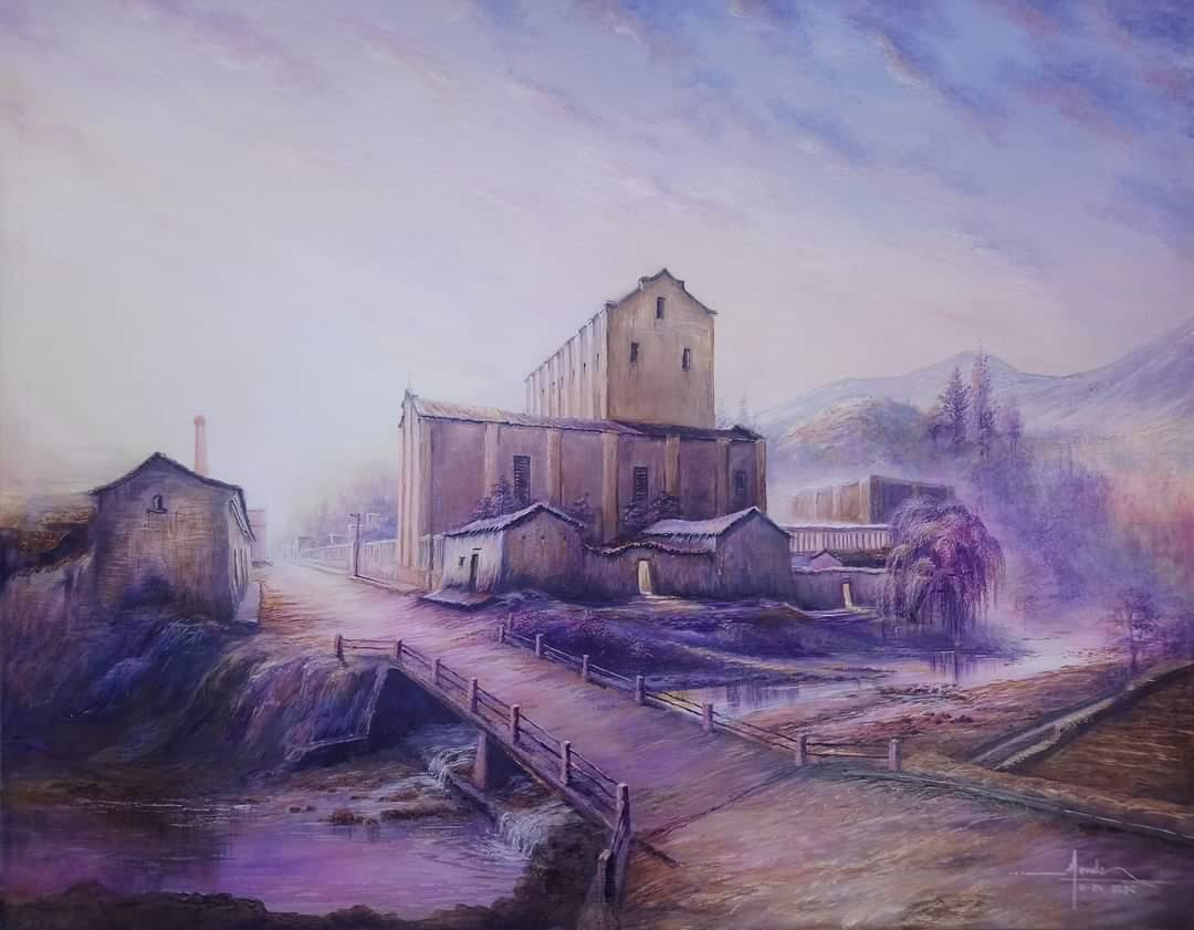 Denavio, el pintor culpineño que usó de lienzo las piedras del río