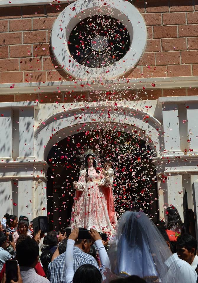 Devotos de Villa Abecia listos para celebrar a la Virgen del Rosario