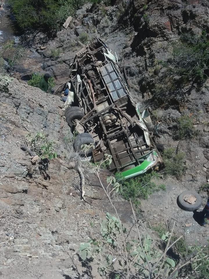 Fallecen 13 personas en bus que viajaba de Tarija a Villa Charcas