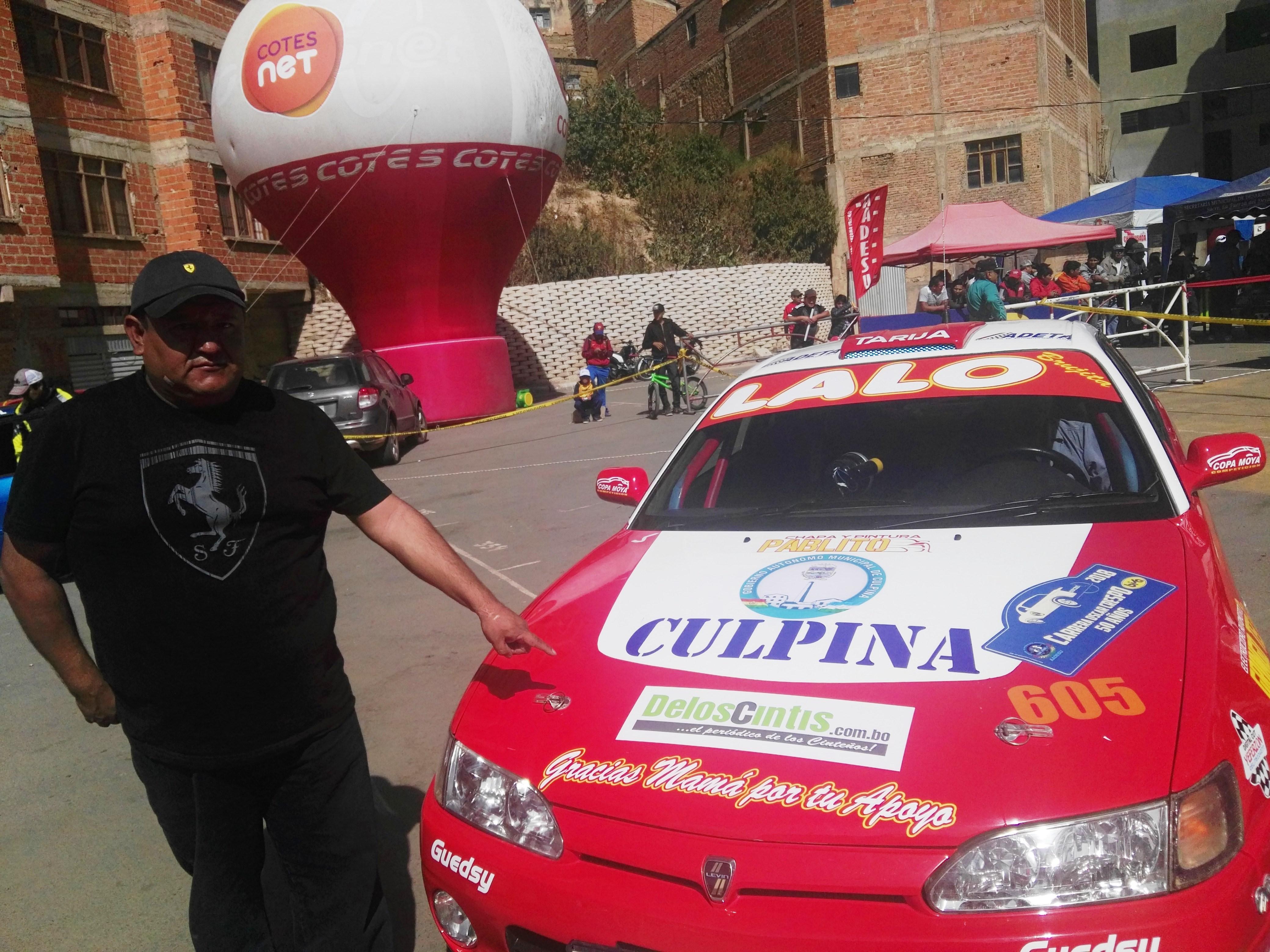 Lalo Padilla corre representando a Culpina y al diario De los Cintis