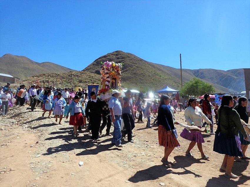 Malcastaca celebra a su Patrono San Lorenzo con misa, procesión y cuarteada