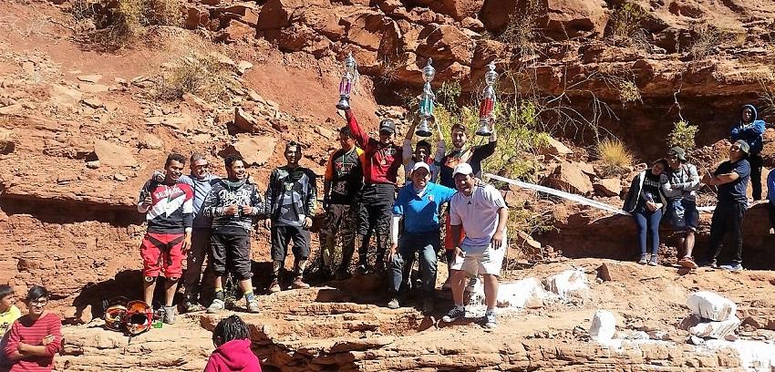 Por primera vez se corrió una prueba de descenso DownHill en Malcastaca